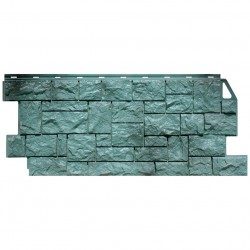 Панель фасадная FineBer 1,137*0,47 Камень дикий серо-зеленый