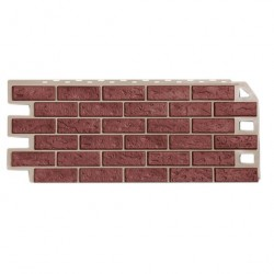 Панель фасадная FineBer 1,137*0,47 Кирпич красный