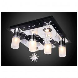 Люстра Панель 1-1167-6-CR+BK-LED Y Е27+MR11 E27+G5.3 230Вт