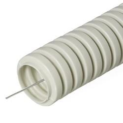 Труба гофрированная ПВХ с зондом, D 20мм, (50м/уп), Промрукав
