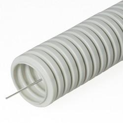 Труба гофрированная ПВХ с зондом, D 32мм, (10м/уп), Промрукав