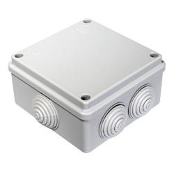 Коробка распаячная 40-0300 для открытой установки безгалогенная (HF) 100х100х50 мм, Промрукав