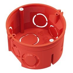 Коробка установочная 80-0501 для скрытой проводки безгалогенная (HF) 64х40 мм с саморезами без соеди