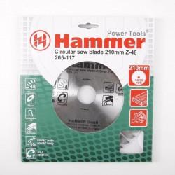 Диск пильный по дереву 210*48зуб*30/20мм CSB WD Hammer Flex 205-117