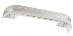 Карниз Камелия с поворотами ваниль 2,4м