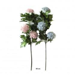 Цветок искусственный Калина голубая 90см