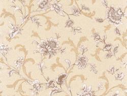 Обои С6БР Лувр-2 симплекс 0,53*10,05м цветы, коричневый (компаньон)