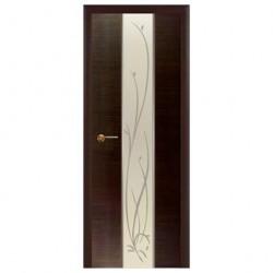 Полотно дверное Зеркало-3 ДО 600 венге