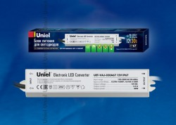 Блок питания Uniel UET-VAJ-030A67, 30Вт, 12В, IP67