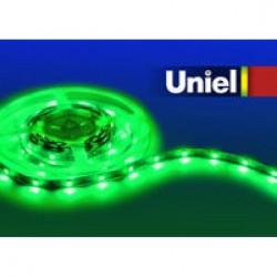 Лента светодиодная Uniel ULS-5050-30LED/m-10mm-IP20-DC12V-7,2W/m-5M-GREEN