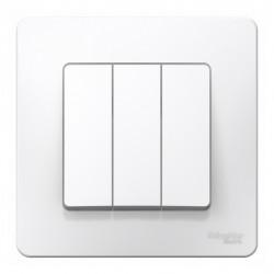 Выключатель 3-клавишный, SE Blanca внутр Белый 10А, 250B (арт. SE BLNVS100501)