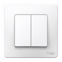 Выключатель 2-клавишный SE Blanca внутр Белый , 10А, 250B (арт. SE BLNVS010501)