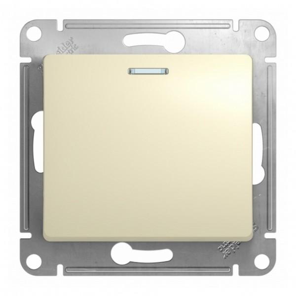 выключатель 1-клавишный se glossa беж с подсветкой, сх.1а (арт. gsl000213)