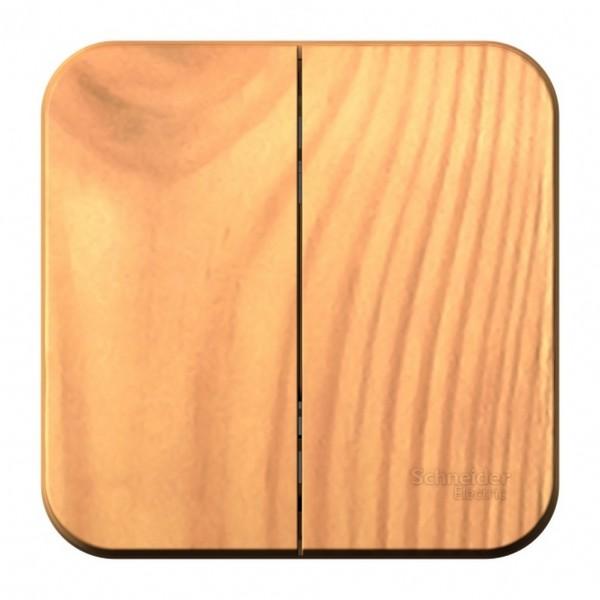 выключатель 2-клавишный se blanca наруж ясень 10а, 250b, изолир пластина (арт. blnva105015)