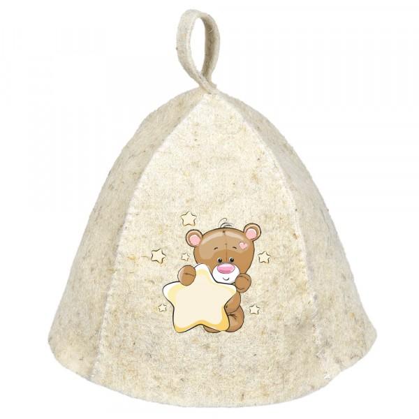шапка банная мишка детская hot pot войлок 100% /20