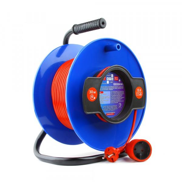 удлинитель на катушке powercube 10а/2,2 квт, 30м, 1 розетка б/з удлинитель на рамке атлант 20 м 1 розетка без заземления пвс 2х1 2200 вт