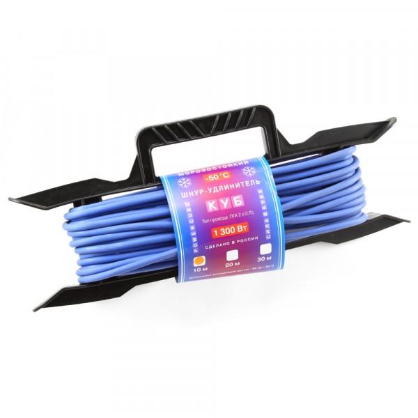 удлинитель на рамке powercube 6а/1,3 квт, 1 розетка, 10м, морозостойкий удлинитель на рамке атлант 20 м 1 розетка без заземления пвс 2х1 2200 вт