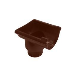 Воронка желоба торцевая универсальная MUROL, цвет коричневый, 80/100 мм
