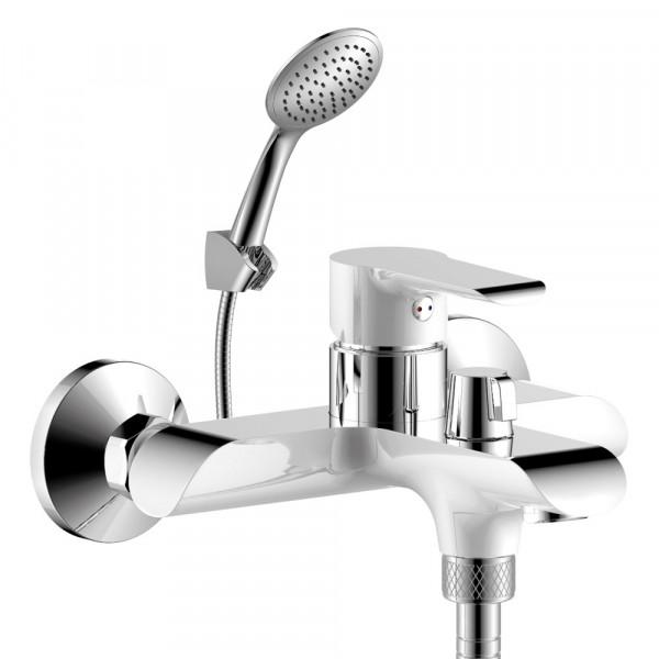 Фото - смеситель для ванны rossinka однорычажный w35-31 хром/бел rossinka w35 32 для ванны универсальный хром