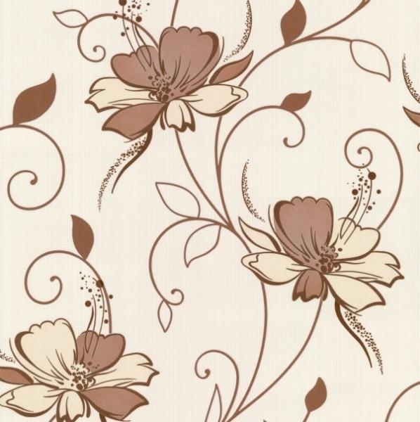 Фото - обои n1002-18 палитра винил 0,53*10,05м цветы, коричневый виниловые обои atlas exception 5043 5