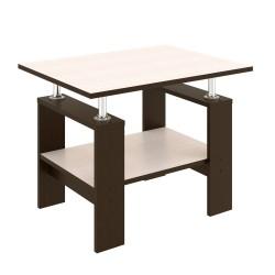 Стол журнальный ТАК-30 (Венге светлый+Венге темный) 0,65*0,5*0,5