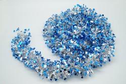 Мишура новогодняя синяя 9*200см 16502