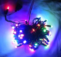 Гирлянда электрическая светодиодная Нить 100 светодиодных лампочек, разноцветные 8 режимов свечения,