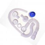 Сифон Орио для ванны с гибкой трубой (пластиковый выпуск)  А-70089