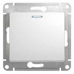 Выключатель 1-клавишный SE Glossa Бел с подсветкой, сх.1а SE GSL000113)