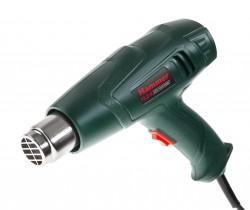 Фен технический HAMMERFLEX HG2000LE,  2000Вт, 300-500л/мин, 350/600 град, насадки, тепл. Защита