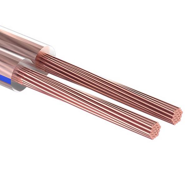 кабель акустический 2х 0.35мм, прозрачный bl, 10м rexant