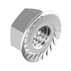 Гайка DIN6923 шестигранная оцинк. с фланцем М6 (4 шт пакет Tech-Krep