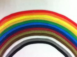 Шнур вязаный ПП 8мм с серд., универс., цветной, 20м