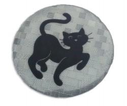 Значок световозвращающий Кошка серебро