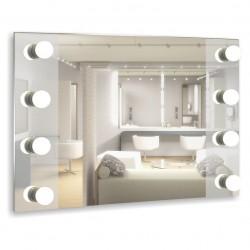 Зеркало  c подсветкой гримерное Этюд 80*60
