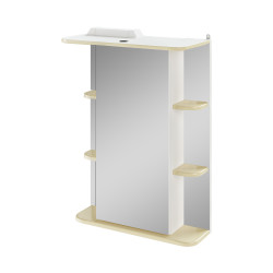 Зеркало-шкаф 55см IKA Гиро правый ваниль /А/