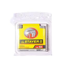 Скобы для степлера 8мм тип 53 закаленные 1000шт STAYER 3160-08