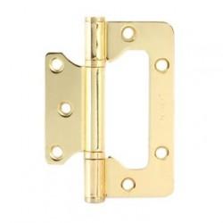 Петля накладная Apecs 100*75 X2,5-B2-Steel золото