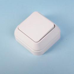 Выключатель 1кл MAKEL накладной белый 45101