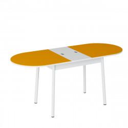 Стол обеденный раздвижной Енисей (1,1*0,7*0,75) Эмаль белый JO 15M800/RAL 2003 матовая