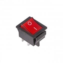Выключатель клавишный 250V 16А (4с) ON-OFF красный с подсветкой (RWB-502, SC-767, IRS-201-1) блистеh