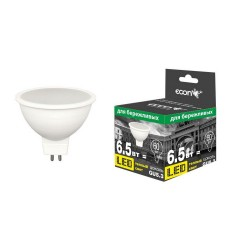 Лампа светодиодная ECON LED MR 6,5Вт GU5.3 3000K 220V ES