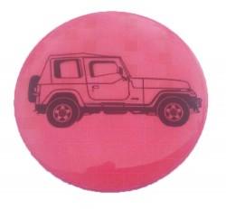 Значок световозвращающий Джип розовый