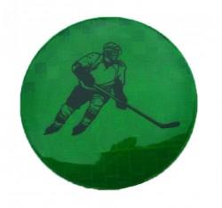 Значок световозвращающий Хоккей зеленый