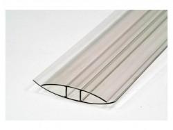 Профиль соединительный Н 4-6мм прозрачный 6м