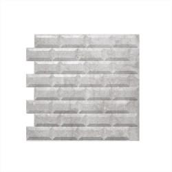 Панель облицовочная 3D МЕТРО СИВА 595х595х10 серый мрамор