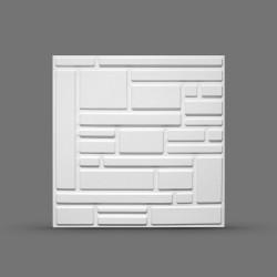 Панель облицовочная 3D СПЛИТ 595х595х8 белая