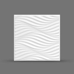 Панель облицовочная 3D ПОРТУ 595х595х10 белая