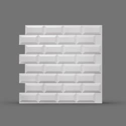 Панель облицовочная 3D МЕТРО 595х595х8 белая