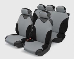 Чехлы автомобильные на сиденье Майка TURBO Полный темно-серый 00081
